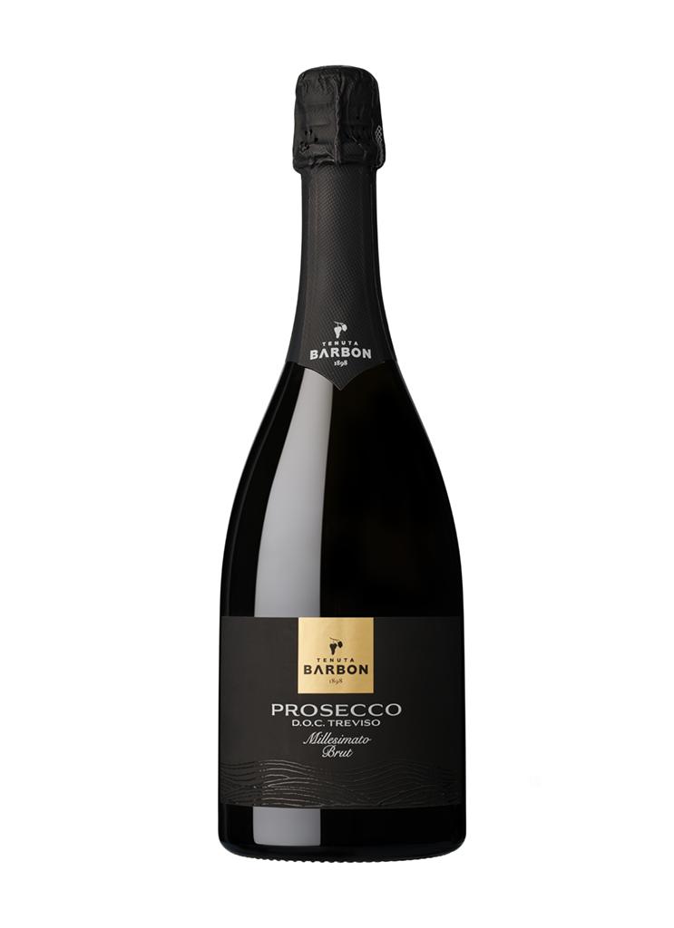 bottiglia di Prosecco DOC Treviso Millesimato Brut Tenuta Barbon